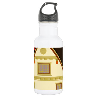 Yellow house stainless steel water bottle