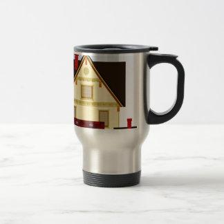 Yellow house travel mug
