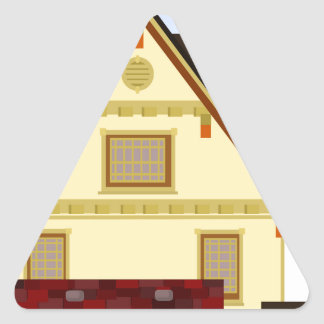 Yellow house triangle sticker