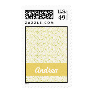 Yellow Houses Postage Stamp