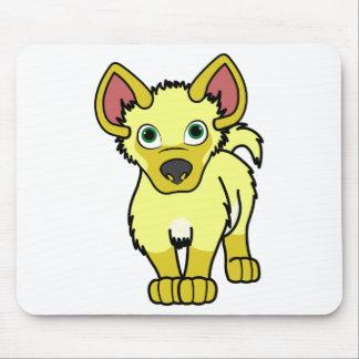 Yellow Hyena Cub Mouse Pad