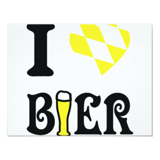 yellow I love Bier icon Card