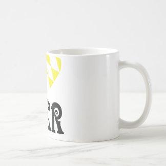 yellow I love Bier icon Coffee Mug