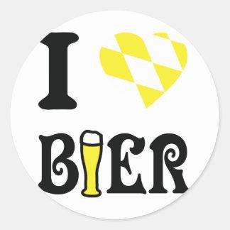 yellow I love Bier icon Stickers