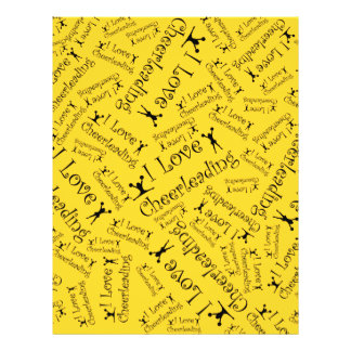 Yellow I love cheerleading Personalized Flyer