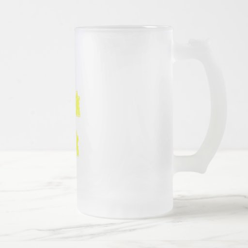 Yellow I Speak Geek 16 Oz Frosted Glass Beer Mug