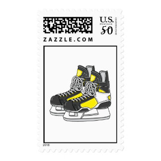 Yellow Ice Hockey Skates Postage