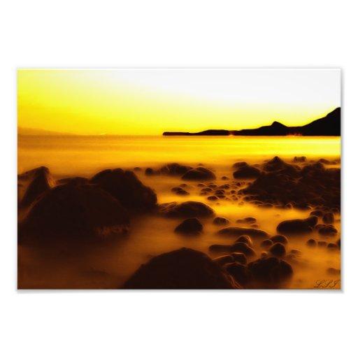 Yellow Ice Photo Art