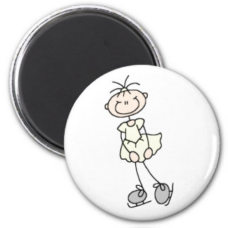 Yellow Ice Skater Girl Magnet