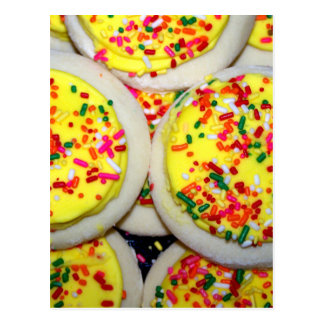 Yellow Iced Sugar Cookies w/Sprinkles Postcards