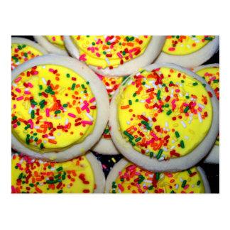 Yellow Iced Sugar Cookies w/Sprinkles Post Card