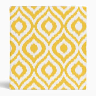 Yellow Ikat Classic Geometric Ethnic Print Vinyl Binders