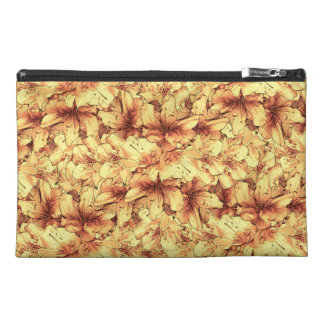 Yellow Illustrated Flower Floral Drawing Travel Accessory Bag