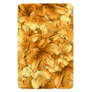 Yellow Illustrated Flower Floral Pattern Drawing Rectangular Photo Magnet