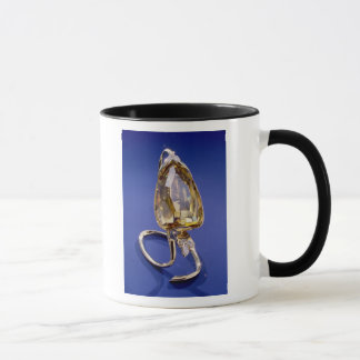 Yellow 'Incomparable' diamond in a gold setting Mug