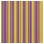 [ Thumbnail: Yellow & Indigo Colored Stripes Pattern Fabric ]
