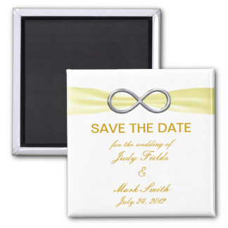 Yellow Infinity Wedding Save The Date Magnet Fridge Magnets