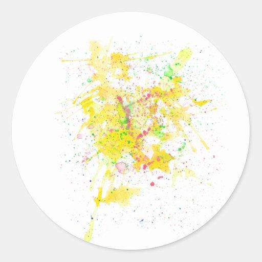 Yellow Ink Classic Round Sticker