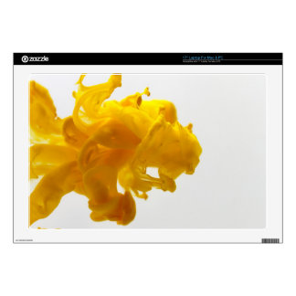 Yellow Ink Drop Fine Art Photography Decal For Laptop