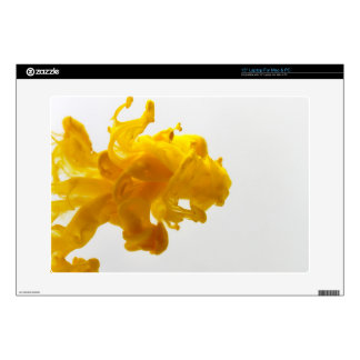 """Yellow Ink Drop Fine Art Photography Decal For 15"""" Laptop"""