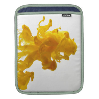 Yellow Ink Drop Fine Art Photography Sleeve For iPads