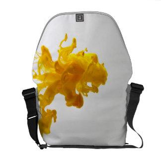 Yellow Ink Drop Photography Messenger Bag