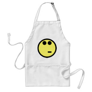 Yellow Inquisitive Smiley Face Adult Apron