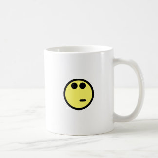 Yellow Inquisitive Smiley Face Classic White Coffee Mug