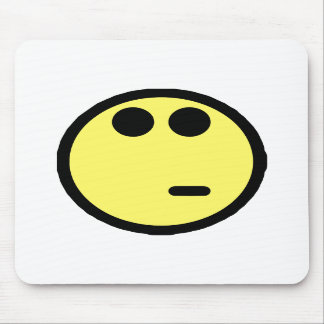 Yellow Inquisitive Smiley Face Mousepads