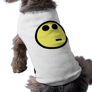 Yellow Inquisitive Smiley Face Pet Tshirt