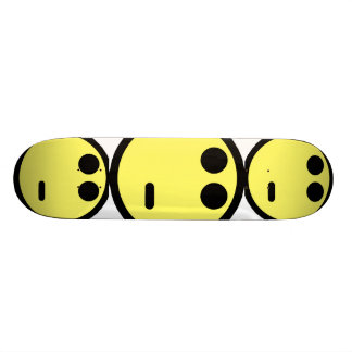 Yellow Inquisitive Smiley Face Skateboard