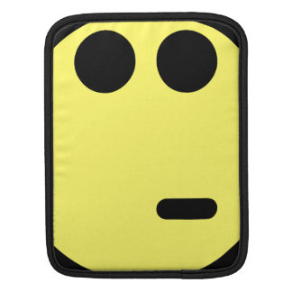 Yellow Inquisitive Smiley Face Sleeves For iPads