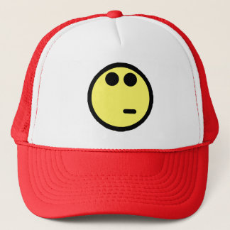 Yellow Inquisitive Smiley Face Trucker Hat