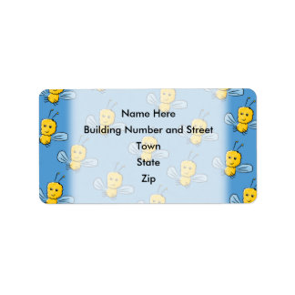 Yellow Insects Address Label