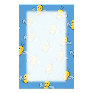 Yellow Insects Stationery