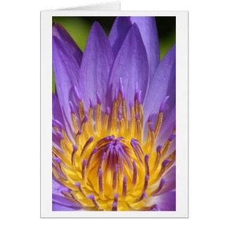 Yellow Inside Purple 3 Card