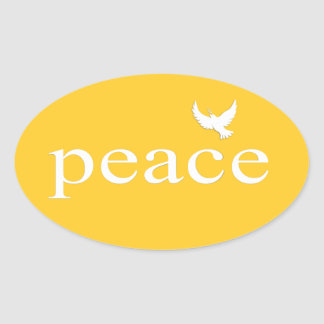 Yellow Inspirational Peace Quote Sticker