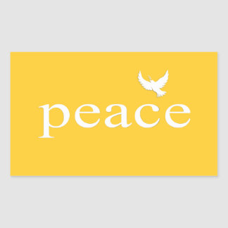 Yellow Inspirational Peace Quote Stickers