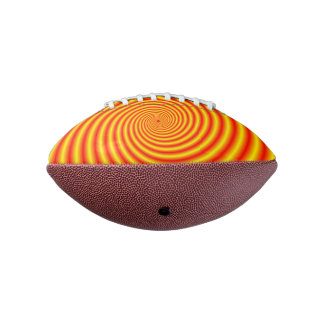 Yellow into Red via Orange Spiral Football