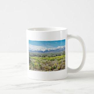 yellow Inyo County - Wildflowers and the Sierras f Coffee Mug