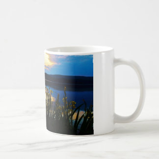 Yellow Iris at Lake Arrowhead shore Coffee Mug