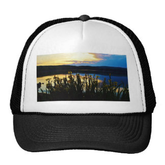 Yellow Iris at Lake Arrowhead shore Trucker Hat