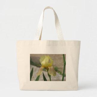 Yellow Iris away Canvas Bag