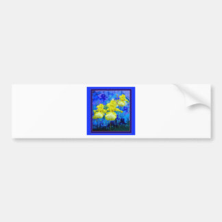 Yellow Iris Azure Blue Garden gifts by Sharles Bumper Sticker