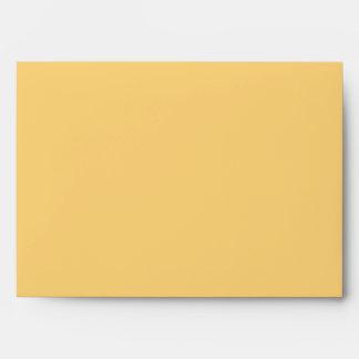 Yellow iris customizable envelopes