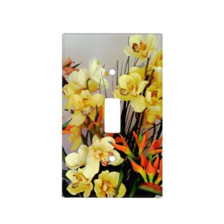 Yellow Iris Flower Arrangement Light Switch Cover