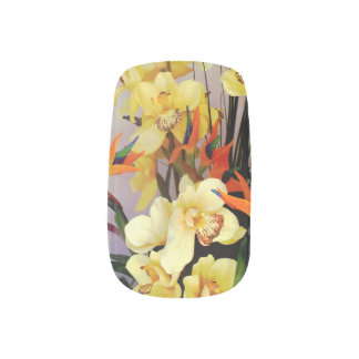Yellow Iris Flower Arrangement Minx® Nail Art