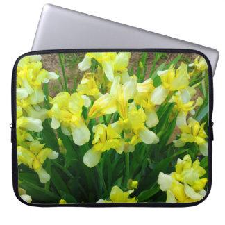 Yellow Iris Flower Patch Laptop Sleeve