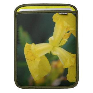 Yellow Iris Flowers iPad Sleeve