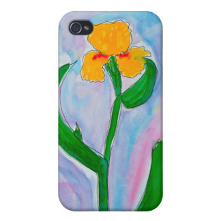 Yellow Iris Cover For iPhone 4